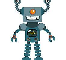 Cute little Robot by Anna Sivak