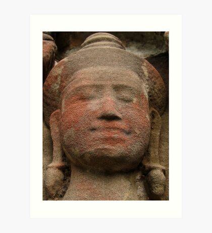 angkor carving Art Print