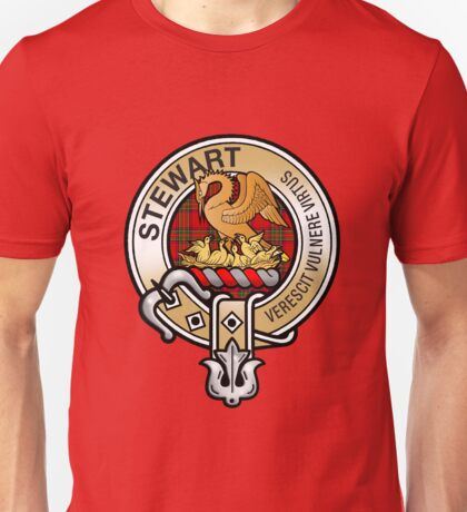 Stewart Clan Crest Unisex T-Shirt