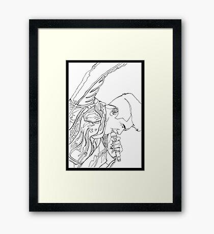 Rock It - Dan  Framed Print