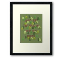 Can't see the woods for the trees Framed Print