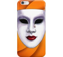 Orange Overtones Modern Art Smart Stylish Wall Art iPhone Case/Skin