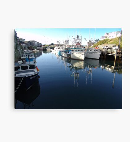 Fishing Village-Bay of Fundy Canvas Print