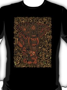 Aztec Elephant with floral Pattern T-Shirt