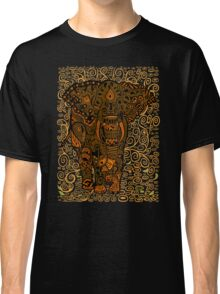 Aztec Elephant with floral Pattern Classic T-Shirt