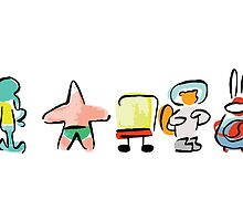 Spongebob - Minimal - Digital Repaint by RoufXis
