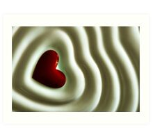 Heart Wave Art Print