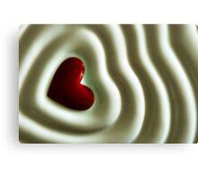 Heart Wave Canvas Print