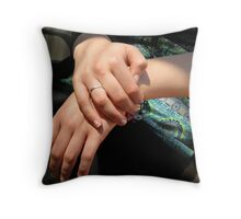 A touch of porcelain by Rochelle Throw Pillow