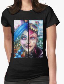Vi and Jinx (Zipper Hoodie) Womens Fitted T-Shirt