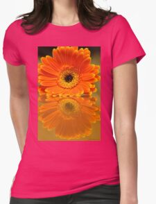 Double Orange Womens Fitted T-Shirt