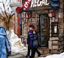 POINTE ST.CHARLES MONTREAL PAINTINGS LA CHIC REGAL CANADIAN ART AND MONTREAL PAINTINGS Sticker