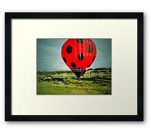 Red Balloon Framed Print