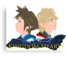 Sora & Roxas Back to Back Canvas Print