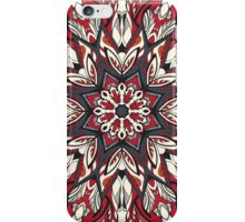 Round floral ornament iPhone Case/Skin