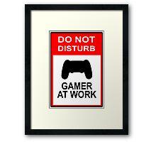Gamer At Work - Playstation Framed Print