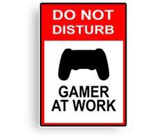 Gamer At Work - Playstation Canvas Print