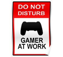 Gamer At Work - Playstation Poster