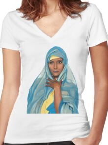 Waris Dirie Women's Fitted V-Neck T-Shirt
