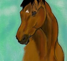 Bay Mare by Dawn B Davies-McIninch