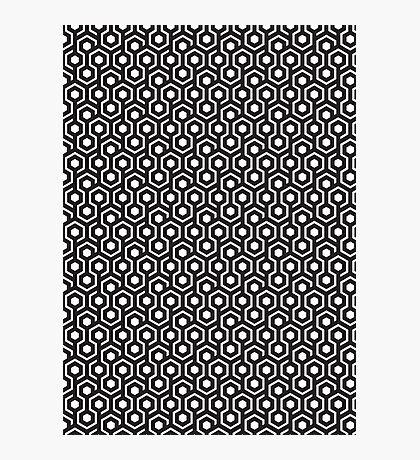 Geometric pattern black Photographic Print