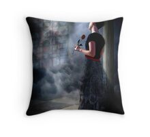 at odds Throw Pillow