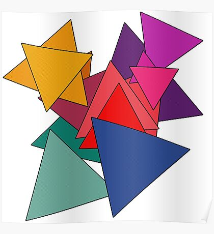 Triangle Fest | Colorful Triangles Poster