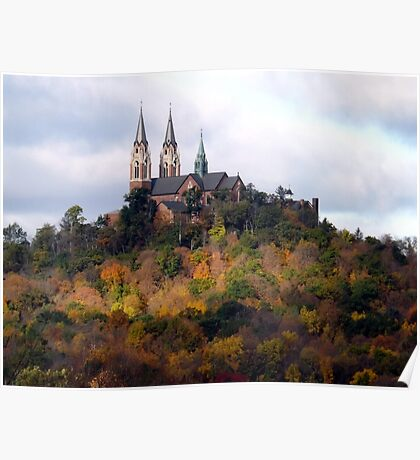 Holy Hill in Autumn Poster