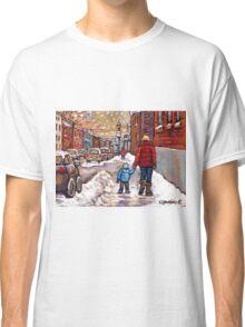 BEST CANADIAN CITY SCENES VERDUN MONTREAL WINTER SCENES Classic T-Shirt