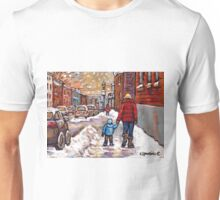 BEST CANADIAN CITY SCENES VERDUN MONTREAL WINTER SCENES Unisex T-Shirt