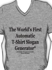 Automatic Slogan Generator T-Shirt