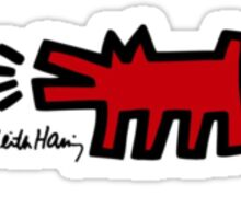 Keith Haring - Barking Dog Sticker
