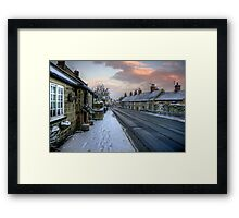 Village Snow Framed Print