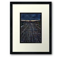 Stationary Gloom Framed Print