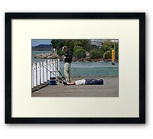 No Fish Here Framed Print