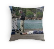 No Fish Here Throw Pillow