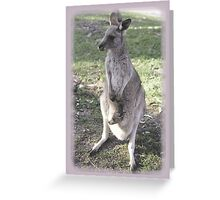 rock wallaby and joey Greeting Card