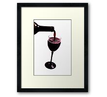 Pouring Wine Framed Print