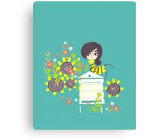 MISS BEE Canvas Print