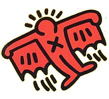 Keith Haring - Flying Devil Photographic Print