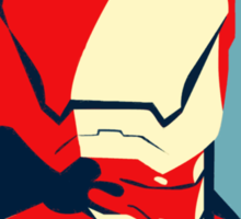Vote for Ironman - Obamized Style Sticker