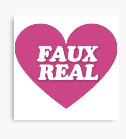 FAUX real Canvas Print