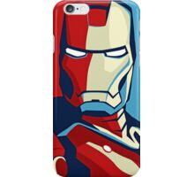 Vote for Ironman - Obamized Style (2) iPhone Case/Skin