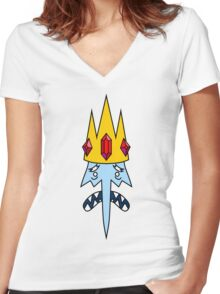 Ice King Women's Fitted V-Neck T-Shirt