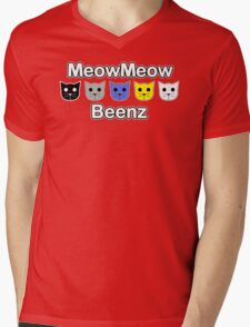 MeowMeow Beenz Mens V-Neck T-Shirt