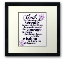 Serenity Prayer Framed Print