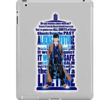 An Angel with all star red converse Shoes typograph iPad Case/Skin