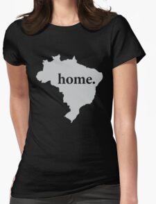 Brasil é minha casa Womens Fitted T-Shirt