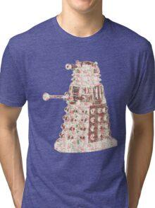 Floral Dalek Tri-blend T-Shirt