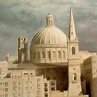 Carmelite Church at Valletta. by BRIMMER
